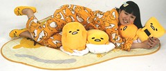 The Pillows Were Placed (emotiroi auranaut) Tags: cute adorable women lady girl pretty beauty beautiful fun pillows gudetama egg costume eggs character characters idol singer japan japanese asia asian sanrio indoor cuddle cuddling pajamas slippers