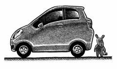 Amazing Karenmobile (Don Moyer) Tags: car auto automobile vehicle yaris ink drawing moleskine notebook moyer donmoyer brushpen
