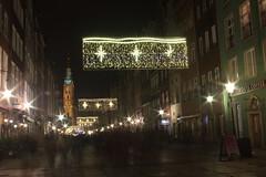 Świąteczna Długa (magro_kr) Tags: gdańsk gdansk danzig polska poland pomorze pomorskie noc ulica światło swiatlo street light longexposure