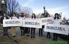 Banner Protest (Greenpeace USA 2016) Tags: tillerson capitolhill exxonmobile exxon statedepartment secretary foreignrelations trump climate denier oil heaaring diplomat exxonknew rejectrexx washington districtofcolumbia unitedstates usa