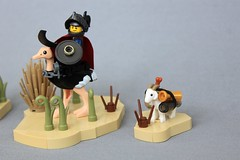 Deshiem Warriors (jsnyder002) Tags: lego landscape desert medieval middle eastern ostrich knight squire warrior fig soldier goat sword shield cavalry
