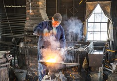 Shipwright Mystic WM 2016 DSC_5302 (drobdyver) Tags: craftsman shipwright blacksmith welding sparks hot fabricating iron broadax steel ax artist authentic metal mysticseaport morgan metalworking seaport nicholscollege sculpture sculptor