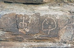 Petroglyphs / Petrified Forest Naional Park (Ron Wolf) Tags: anasazi anthropology archaeology nationalpark nativeamerican petrifiedforestnationalpark puebloan anthromorph anthropomorph head lizard petroglyph rockart zoomorph arizona