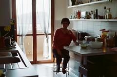 Maria (micolpiovosi) Tags: film filmcamera filmscan filmphotography 35mm analog analogue analogico nikon 6x6 mediumformat female woman portrait kitche kitchen grandmother family femalephotographer