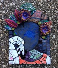 Faceless (Gila Mosaics n'stuff) Tags: wip process grout gilamosaics hand picassiette mosaic art