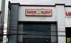 Chew and Burp (cowyeow) Tags: food restaurant chew burp gas sign asia asian filipino street funny funnysign angelescity philippines old urban city composition mall