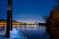 snowy dock (Ben McLeod) Tags: oregon portland sellwood sellwoodriverfrontpark willametteriver dock fullmoon longexposure night river snow