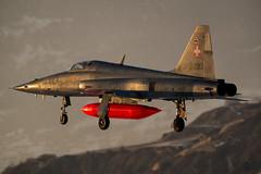 F5 Tiger J-3093 SION (markranger) Tags: f5 sion snow tiger swiss fastjet sunset j3093 wef davos