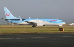 G-FDZJ take off. (aitch tee) Tags: cardiffairport aircraft airliner thomson jetliner boeing b737800 gfdzj takeoff cwlegff maesawyrcaerdydd walesuk