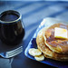 The breakfast (JTeale) Tags: bananas pancakes coffee food