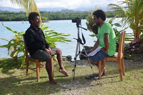 vanderploeg2016 Lau Lagoon (347) Meshach conducting video interview