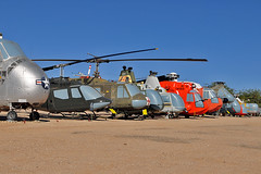 Helicopters (skyhawkpc) Tags: pimaairspacemuseum tucson az arizona aviation allrightsreserved garyverver outside helicopter sikorsky uh19b chickasaw 527537 bell oh58a kiowa 6916112 uh1h iroquois 6413895 usmc kaman oh43d huskie 139974 hh43f 624531 uscg hh52a seaguard 1450 hh3f pelican 1476 piasecki vertol ch21c workhorse 562159 hup3 mule 147595 th13n sioux 145842 h5g dragonfly 480548 ho3s1 232 usn usaf usnavy usairforce uscoastguard