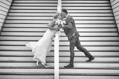 Wedding (♥siebe ©) Tags: wedding blackandwhite holland monochrome dutch groom bride kiss couple marriage staircase trap kus trouwen 2015 bruidspaar trouwfoto trouwreportage bruidsfoto siebebaardafotografie wwweenfotograafgezochtnl