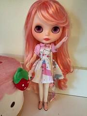 Rosaline modeling her new Plastic fashion dress
