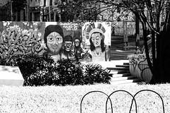 Civilizados (alinecotrimfotografia@gmail.com) Tags: bw white black branco centro pb preto sp paulo arvore so indio grafite moldura monocromatico monocromatica
