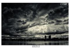 Citycloud (Rupa Majumder (Datta)) Tags: city sky bw cloud india water landscape blackwhite cityscape scene monsoon drama lightshadow kolkata westbengal monochorome nikon5100