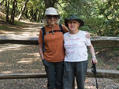 Friend found (LeftCoastKenny) Tags: trees fence trail hikers ranchosanantonio