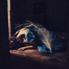 the weight of a feather (brookeshaden) Tags: fairytale fineart feather conceptual fineartphotography selfportraitart brookeshaden