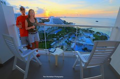 sunset watch with a glass of wine (Rex Montalban Photography) Tags: sunset mexico wine cancun rexmontalbanphotography riupalacepeninsula