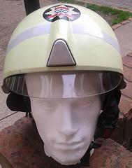 1997 London Fire Brigade Schuberth F200 Fire Helmet (Replica) (Lesopc) Tags: london station fire poplar helmet 1997 1998 f22 firefighter trial visor brigade f200 ppe schuberth lfb lfcda