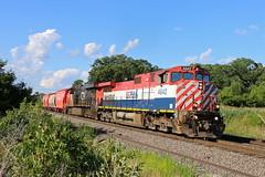 Byron, Wisconsin (UW1983) Tags: wisconsin cn trains railroads canadiannational bcrail byronhill