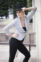 2015_07_30 Georgia W 553 WM (Sendall) Tags: portrait sexy london beautiful beauty hat fashion gorgeous location blonde stunning editorial canarywharf androgyny trilby androgynous isleofdogs