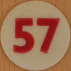Bingo Number 57 (Leo Reynolds) Tags: xleol30x squaredcircle number numberbingo xsquarex bingo lotto loto houseyhousey housey housie housiehousie numberset 57 sqset120 50s canon eos 40d xx2015xx xxtensxx sqset