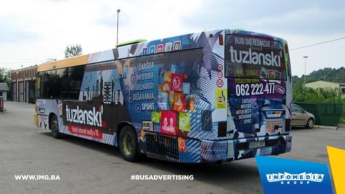 Info Media Group - Tuzlanski.ba, BUS Outdoor Advertising, Tuzla 05-2015 (2)