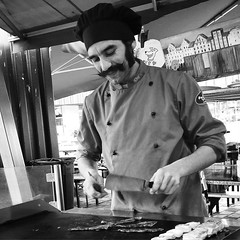 Cooking (Eric_G73) Tags: street people blackandwhite bw cooking cook streetphotography streetlife streetfood candidphotography