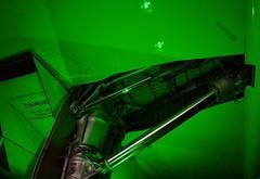 Main Landing Gear (rustyruth1959) Tags: nikon nikond3200 tamron16300mm manchesterairport runwayvisitorcentre manchester landinggear aircraft concorde indoor green plane hydraulic metal wheels