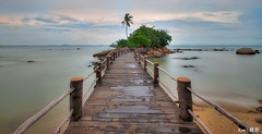 Turi Beach #2 (Dec 2016) (Ken Goh thanks for 2 Million views) Tags: landscape turi beach batam sea sky water reflection bridge leading path pentax k1 sigma 1020 full frame