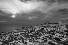 Dingli, Malta (petia.balabanova(tnx for +2 million views)) Tags: dingli malta church sea sky rocks clouds sunrise blackandwhite bw monochrome travel 2470mm nikond800 landscape