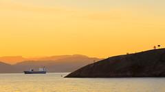 Skorpegavlen juni -14 (bjarne.stokke) Tags: hordaland hardangerfjorden hardanger solnedgang norway norge norwegen skip
