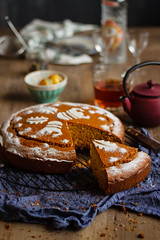 IMG_8332_exp (Helena / Rico sin Azúcar) Tags: bizcocho cake vasilopita vanilla vainilla orange naranja anís anise cardamomo cardamom mantequilla butter food christmas navidad postre dulce dessert greece