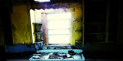 peripheral visions... (BillsExplorations) Tags: peripheral visions abandoned abandonedillinois abandonedhouse abandonedfarm decay ruraldecay ruraldeterioration kitchen empty window forgotten oncewashome old bare