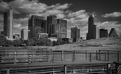 Downtown Austin from Butler Park (sbmeaper1) Tags: hdr blackwhite austin texas tx bw downtown butler park lady bird trail monochrome