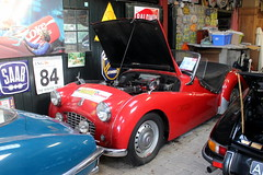 1957 Triumph TR3 (Davydutchy) Tags: car collection private privé sammlung collectie automobile auto automobiel bil voiture pkw klassiker classic triumph tr3 convertible cabriolet cabrio ragtop 3 welsum trn nieuwjaarsborrel january 2017