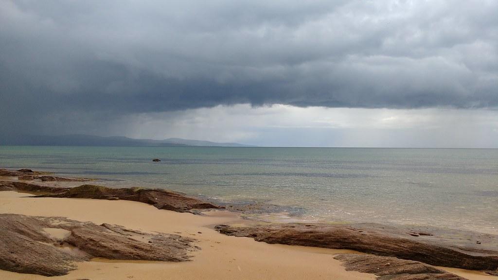 Rain cloud Embo Beach