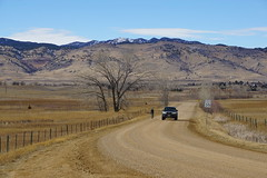 Gravel Biking (Let Ideas Compete) Tags: biker bicycling gravel trails bouldercounty colorado sharetheroad curve dirtroad gravelroad foothills winterbrown