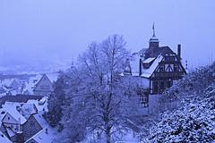 A winter's tale. (crowfoto) Tags: tübingen tuebingen castle schloss fachwerk snow winter schnee frost beautiful oldcitycentre city wow awesome canon germany