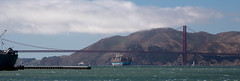 Golden Gate Bridge (scuthography) Tags: golden gate bridge goldengatebridge goldengate sanfrancisco california maersk container ship ocean water blue red panorama stunning amazing windy scuthography