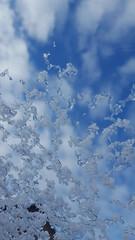 Snow on my window (joe-so) Tags: snow cold blue sky winter window fenster kalt schnee kristalle zoomin