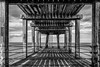 Way Out (scarlet-pimp) Tags: horizon symmetrical landscape promenade pier beams mono canon5d bnw nd10 civilengineering northyorkshire ladder longexposure monochrome ndfilter symmetry whitby wood architecture westpier bw blackandwhite harbour boxingring england unitedkingdom gb