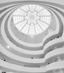 Guggenheim (Giles McGarry (formerly kantryla)) Tags: newyork guggenheim museum interior modernarchitecture architecture highkey white mono pilgrimage franklloydwright united states wow