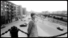 wife in Gothenburg...spring 1970 (iEagle2) Tags: analog analogfilm analogue blackandwhite blackwhite bw ehefrau female femme frau film gothenburg götaälv göteborg minolta monochrome woman wife spring sweden srt101 streetphotography 1970 seventies