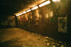 Unsure. (Julien Prénat) Tags: olympusxa olympus analogphotography glauque argentic tunnel contaxt2 film underground paris filmphotography sombre murky unsure portra400 dark unsafe passage kodak