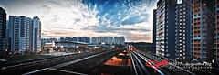 LRT Rails (Augustinwee Photography) Tags: singapore lrt rails sunset hdb housingestate sengkangsportscentre trainstation