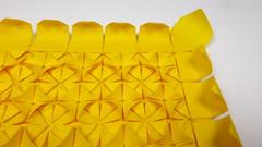 🌻 Sunflower Tessellation — close-up (Michał Kosmulski) Tags: origami tessellation sunflower flower molecules petals leaves tantpaper michałkosmulski yellow