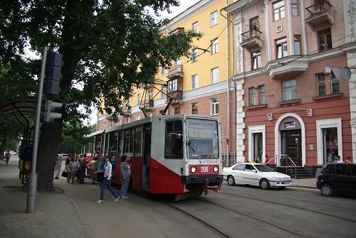 Irkutsk tram 71-608K 208, one passenger 608K in city ©  trolleway