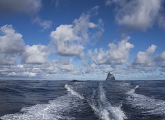 Leaving Balls Pyramid (Ralph Green) Tags: clouds australia lordhoweisland boatwash ballspyramid